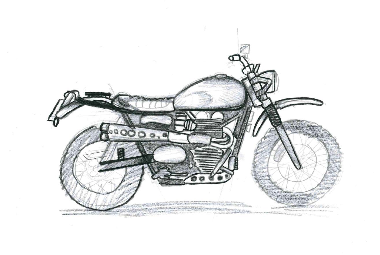 Cómo Dibujar Una Moto